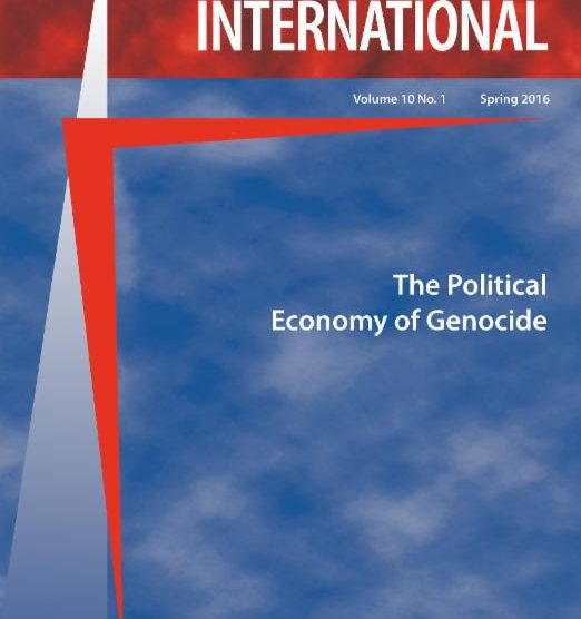 Genocide Studies International (GSI) 10.1: The Political Economy of Genocide