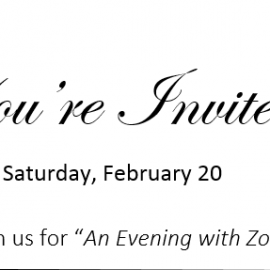 """You're Invited to """"An Evening with Zoryan"""""""