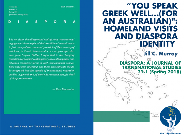 Volume 20, Number 1 of Diaspora is Now Available!