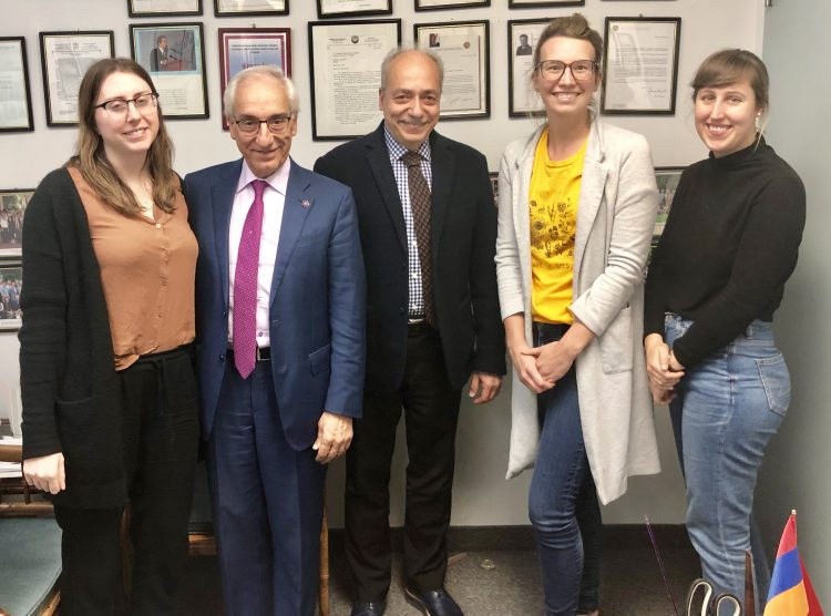 Dr. Y. Zorian Visits the Zoryan Institute