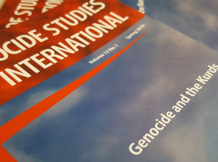 "Zoryan Institute announces the timely publication of Genocide Studies International 13.1, a special issue on ""Genocide and the Kurds."""