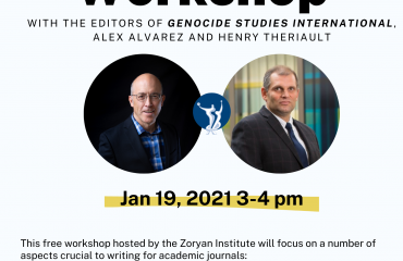 Zoryan Institute presents Publishing in Academic Journals: A Writing Workshop