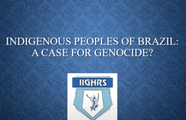 Indigenous Peoples of Brazil: A Case for Genocide? With Prof. Flávio de Leão Bastos Pereira (Genocide and Human Rights Webinar Series, Fall 2020)