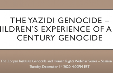 The Yazidi Genocide with Caroline Schneider (Genocide and Human Rights Webinar Series, Fall 2020)