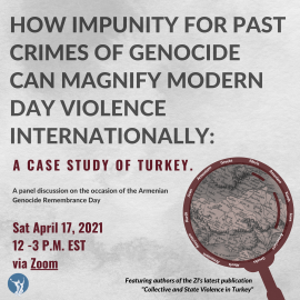 Upcoming Panel: HOW IMPUNITY FOR PAST CRIMES OF GENOCIDE CAN MAGNIFY MODERN DAY VIOLENCE INTERNATIONALLY
