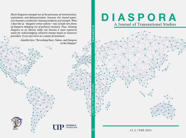 Available Now! Diaspora: A Journal of Transnational Studies 21.2